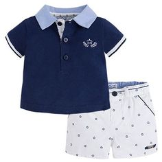 Little Boy Outfits, Cute Outfits For Kids, Baby Boy Outfits, Outfits Niños, Short Outfits, T Shirt And Shorts, Printed Shorts, Short Niña, Baby Kids Clothes
