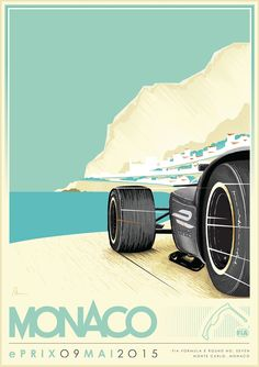This limited edition bespoke poster has been illustrated by Manchester based designer Alex Sylt to celebrate the iconic race track of Monaco which ...