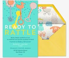 Evite Ready To Rattle Invitation. Pink Baby ShowersEcardsBaby ...