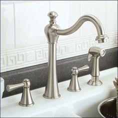 Bellevue Bridge Kitchen Faucet With Brass Sprayer  Lever Handles Magnificent Brushed Nickel Kitchen Faucet Design Ideas
