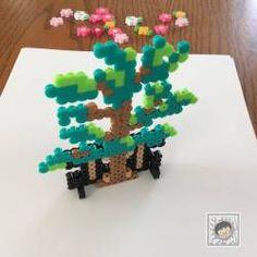 雛人形のアクセサリー3 橘&桜 アイロンビーズの図案 – セナパパBLOG