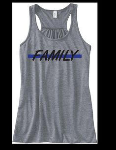 Police Wife Shirt Family Thin Blue Line tank top by KudosClothing