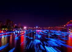 100,000 LED lights float down the Sumida River | Spoon & Tamago
