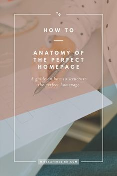 How to: Anatomy Of The Perfect Homepage, How To Structure Your Homepage - Miel Café Design Html Design Templates, Homepage Template, Website Template, Pinterest Photography, Photography Words, Photography Website, Blog Layout, Website Layout, Simple Web Design