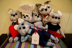cotton buldogs #bulldog #cottontoys #handmade #kokoart #lovebulldogs #buldog #handmadetoys #cottontoys