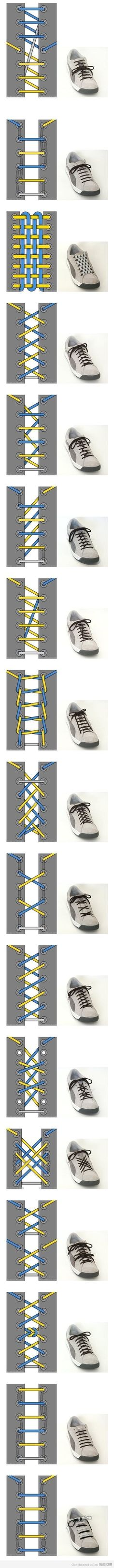 Who knew there were so many different ways to tie a shoe
