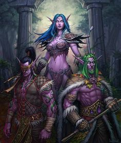 Illidan, Tyrande & Malfurion Stormrage | Read about the fall of Sargeras and the rise of the Burning Legion as we #ExploreTheLore from the World of Warcraft