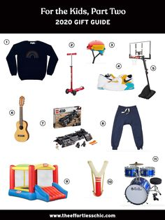 Our Gift Guide for Kids, Part Two — Gift Ideas for Kids- Bounce House, Basketball Goal and More! See all of our gift guides at TheEffortlessChic.com/tag/gift-guide