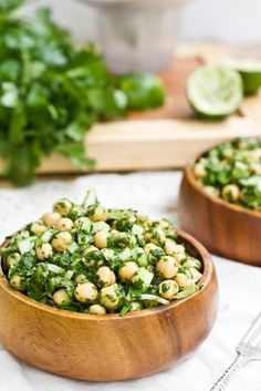 Cilantro lime chickpea salad ~ Made this last night. ONE OF THE BEST THINGS EVER!!!! So yummy!! Esp if you like cilantro  ~ Sarah