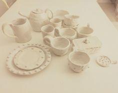 Homemade pottery. Coil pottery. Slab built pottery