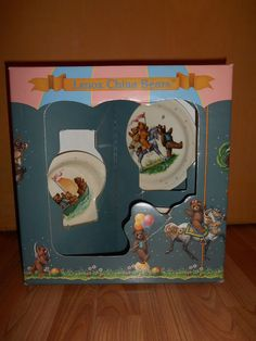 Lenox China Bears Childs 3 Piece Set New in Box Vintage 90's Made in USA in Pottery & Glass, Pottery & China, China & Dinnerware | eBay