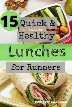 If you're bored with your current lunch routine, here are some suggestions for quick and healthy lunches that don't require a lot of prep time.  #healthyeating   #runningnutrition Quick Healthy Lunch, Healthy Salads, Healthy Lunches, Healthy Eating, Healthy Recipes, Healthy Habits, Healthy Weight, Meal Plan Printable, Running Food