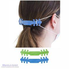 """auf Zuckerrohrbasis. Das biobasierte Material ist zu 100 % wiederverwertbar, kann desinfiziert werden und fühlt sich weich und flexibel an. Entlastet den hinteren Teil der Ohren. Mit offiziellem """"I'm Green""""-Gütezeichen. Artikelgrösse 12,5 x 2,7 x 0,2 cm Material GreenPE / Rohrzucker Nettogewicht 4 gr Band, Bobby Pins, Material, Hair Accessories, Beauty, Promotional Giveaways, Ears, Sash, Hairpin"""