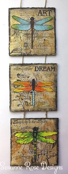 Susanne Rose - Papierkleckse: Mixed Media Wallhanger with Art Anthology
