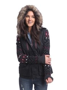 52% OFF Circus by Sam Edelman Women's Sweater Sleeve Anorak with Faux Fur