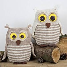 Knitting kit - Mr & Mrs Owl - Complete knitting kit - all materials included in the kit by Twilleys