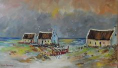 Cottages with red boat : (oil on stretched canvas: x ) in the Paintings category was listed for on 30 Sep at by Louis Pretorius in Cape Town White Lilies, Kinds Of Music, Abstract Landscape, Impressionism, Boat, Canvas, Cottages, Red, Painting