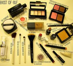 Best of ELF Cosmetics--some of these I use and LOVE