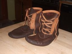 Handmade leather moccasins