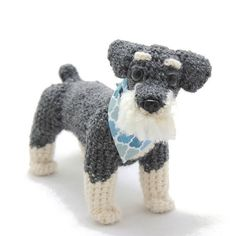 New #schnauzer just added to #Etsy! Link to shop in profile. #crochet #amigurumi #dog #puppy #terrier by julierenton