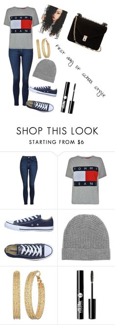 """""""F. D. O. S"""" by alayjajones ❤ liked on Polyvore featuring beauty, Topshop, Tommy Hilfiger, Converse, Madeleine Thompson, GUESS, Charlotte Russe and Valentino"""