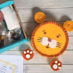 Lion Birthday Cake Kit - childrens birthday
