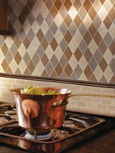Copper Coloured Wall Tiles