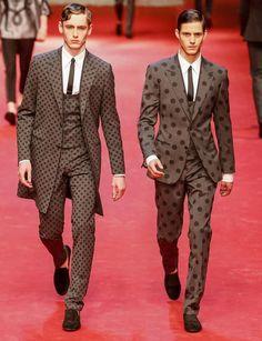 ♔The Portuguese Elegance♔ Tom Webb & Luuk Van Os | Dolce & Gabbana Spring/Summer 2015 | Milan Fashion Week