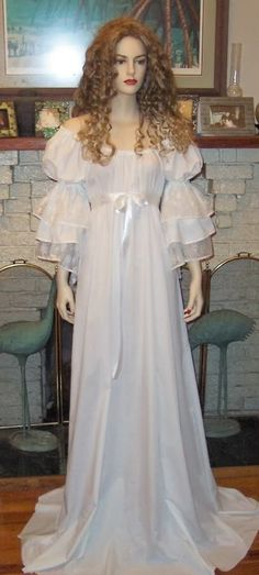 Chemises/Nightgowns:  Romantic Victorian Nightgown.