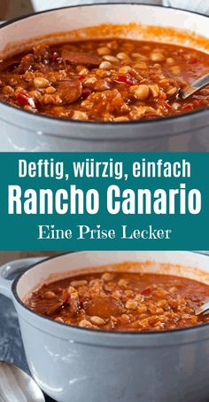 Rancho Canario - Kanarischer Eintopf, würzig, wärmend, sättigend - Eine Prise Lecker Rancho Canario - a spicy and hearty Canarian stew. Lets prepare well and tastes even better when warmed up. Healthy Soup Recipes, Easy Dinner Recipes, Beef Recipes, Easy Meals, Quick And Easy Soup, C'est Bon, Soups And Stews, Beef Stews, Casserole Recipes