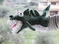 Dinosaur Hand Puppet Knitting Pattern