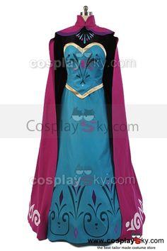 Disney-Movie-Frozen-Elsa-Coronation-Dress-Costume-Cosplay-2