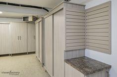 Garage Cabinet Systems, Garage Cabinets, Garage Doors, Garage Organization, Garage Storage, Melamine Cabinets, Custom Garages, Cabinet Space, Project Management