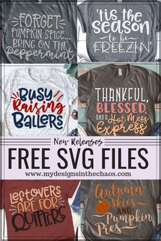 60 Free Silhouette and Cricut Designs Free SVG files. Perfect for use with your Silhouette or Cricut Cutting Machine! The post 60 Free Silhouette and Cricut Designs & T-Shirt Gallery appeared first on Free . Cricut Air, Cricut Vinyl, Cricut Help, T Shirt Designs, Vinyl Designs, Free T Shirt Design, Shilouette Cameo, Cricut Fonts, Cricut Svg Files Free