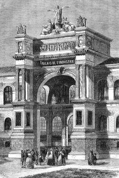 L' Exposition Universelle de 1855 à Paris du 15 mai au 31 octobre 1855: L'entrée principale