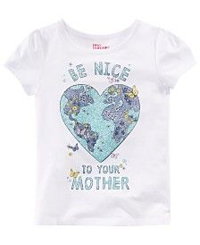 Epic Threads Little Girls Graphic-Print T-Shirt, Created for Macy's - White 5 Crew Shop, Baby Clothes Shops, Girls Shopping, Shirts For Girls, Graphic Prints, Big Kids, Baby Shop, Little Girls, Kids Shop
