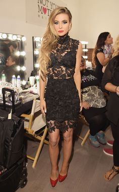 Carmen Electra from Stars at New York Fashion Week Spring 2015