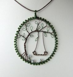 Sharyl's Jewelry & Reflections: The Wearable Wire Art of Louise Goodchild Designs Wire Wrapped Jewelry, Metal Jewelry, Beaded Jewelry, Handmade Jewelry, Jewlery, Women's Jewelry, Pendant Jewelry, Diy Schmuck, Schmuck Design