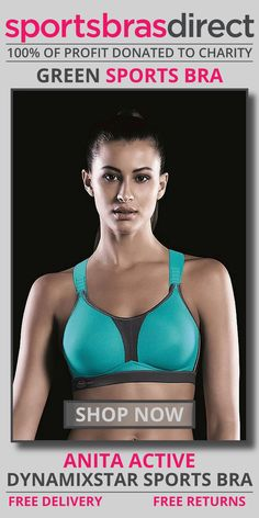"""Designed for maximum comfort and a great under shirt look. This high impact, wirefree sports bra features a racer back. The DynamiXstar Green Sports Bra by Anita Active is a global innovation which has already received the """"Red Dot Design Award"""". A dynamic power pack. Shop Now! #bra #sportsbra #green #greenbra #greensportsbra"""