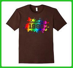 Mens Established 1985 Birthday Gift 32 Years Old , LGBT Rainbow Small Brown - Birthday shirts (*Amazon Partner-Link)