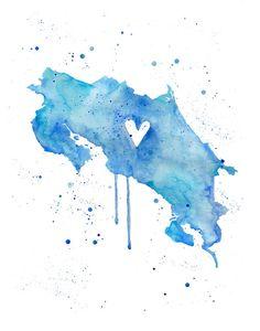 5 x 7 o 8.5x11 Costa Rica amor
