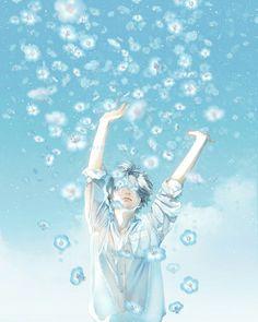 The sky falls - Re°のイラスト - pixiv Sky Anime, Blue Anime, Art And Illustration, Fantasy Kunst, Fantasy Art, Aesthetic Art, Aesthetic Anime, Manga Art, Anime Art