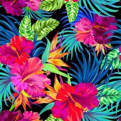 Drive You Mad Hibiscus Pattern by Elena Belokrinitski #Hibiscus #ハイビスカス