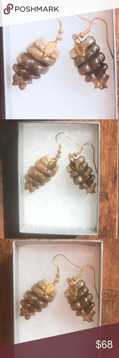 Rattle snake rattler cowgirl dangle earrings ooak Genuine rattle snake rattler dangle earrings.  Approximately 1 inch in length.  Gold plated ear wires and findings.  Definitely impress when wearing these uniquely designed pieces of art.  Hand made. Jewelry Earrings