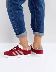 Image result for adidas originals gazelle trainers in burgundy