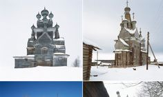 The lost churches of Russia: Haunting images of abandoned wooden buildings crumbling to dust in remote forests