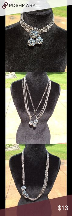 """Stunning Multi Way Necklace! Full length necklace is 19"""". 8 chains. Can be worn many ways. Jewelry Necklaces"""