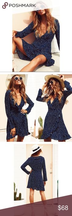 NWT Polka dot ruffle long sleeve dress *NOT FREE PEOPLE, tagged for exposure only. This is an exclusive private boutique brand. Brand new with tags. Fit is true to size.❗️Price firm unless bundled❗️ Free People Dresses Long Sleeve