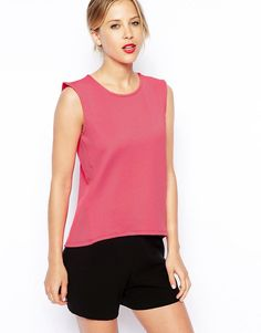 Image 1 of ASOS Sleeveless Top in Textured Fabric
