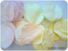 SALVAGED WHIMSY: Tutorial: Dying Coffee Filters